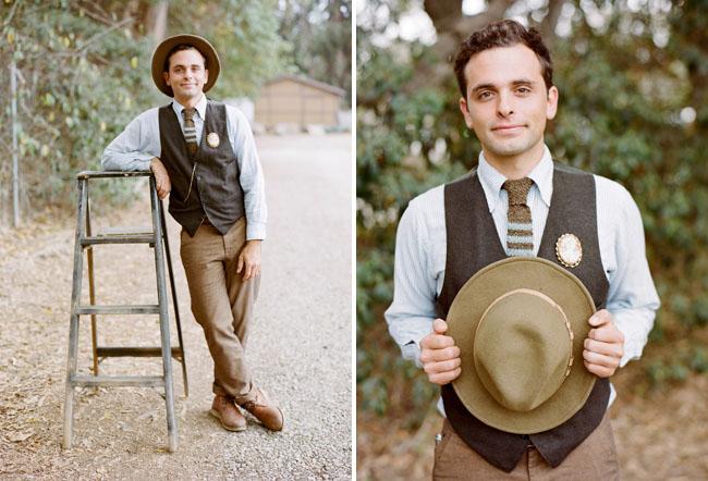 miner inspired groom
