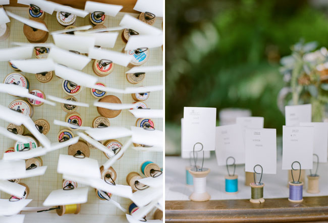 spool place cards