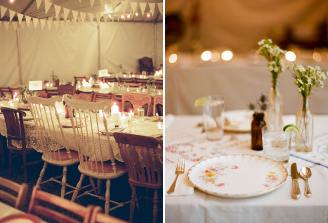 The Reception Barn Tent Were Decorated With Lovely Quintessential Vintage Decor Tablescapes Featured Lace Linens Found Handkerchief