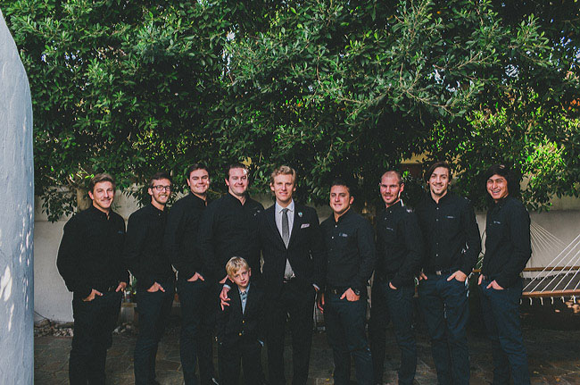 groomsmen in black
