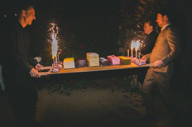sparkler log cakes