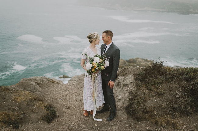 minimal boho elopement