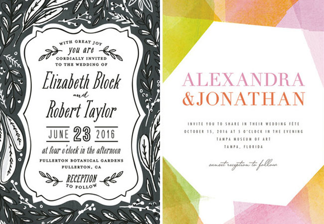 watercolor geometric invitation