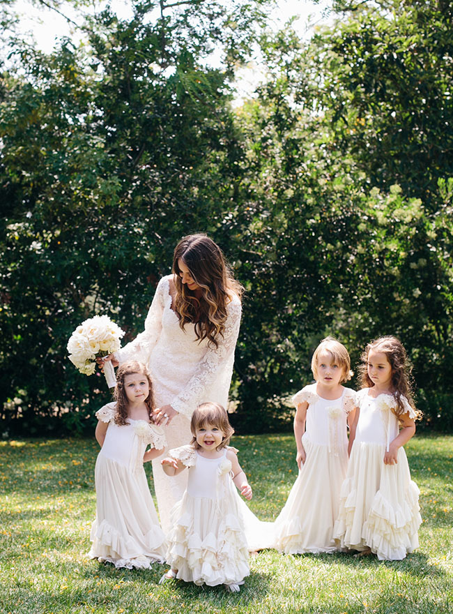 ruffle dress flower girls