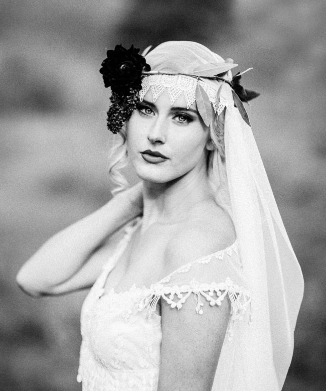 mountain bridal flower crown