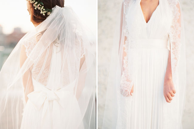 BHLDN lace back dress