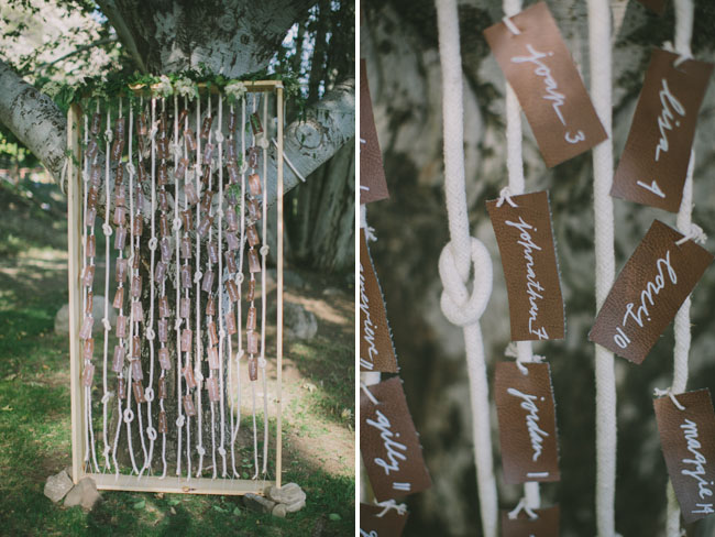 rope escort card display