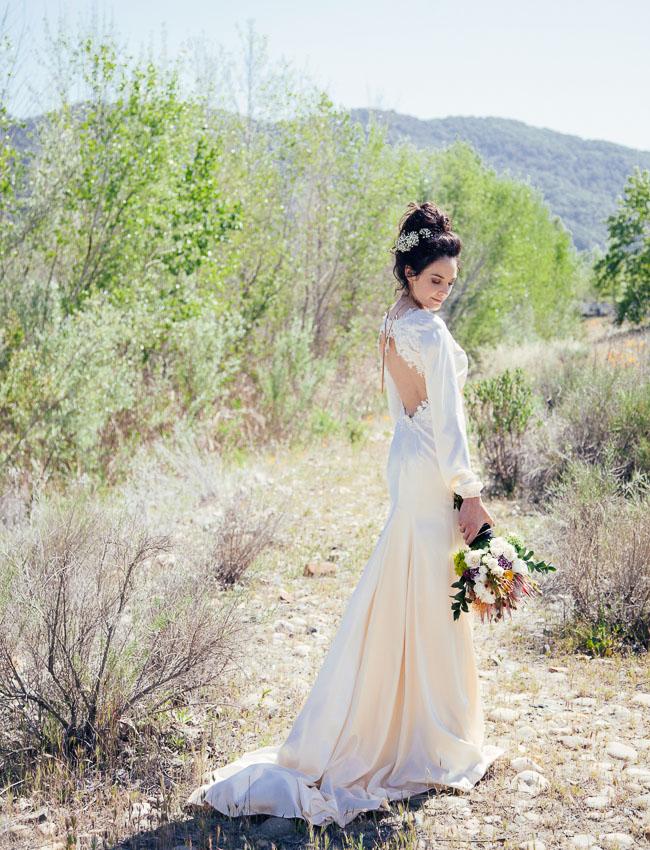 old timey western bride