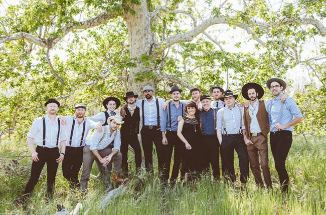 western groomsmen