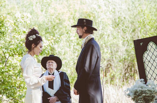 old timey western ceremony