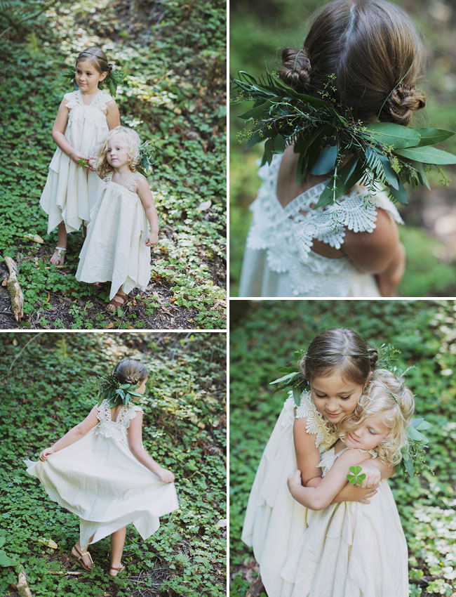 flower girls in wreaths