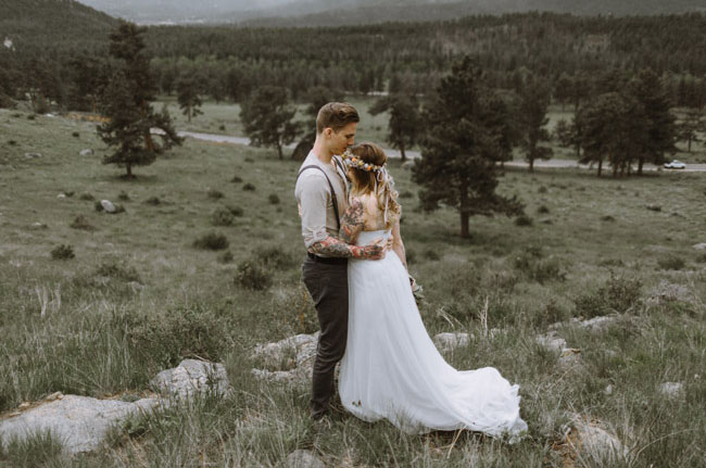 mountain bride and groom
