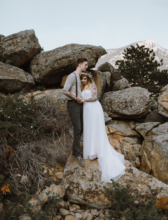 the rockies bride and groom