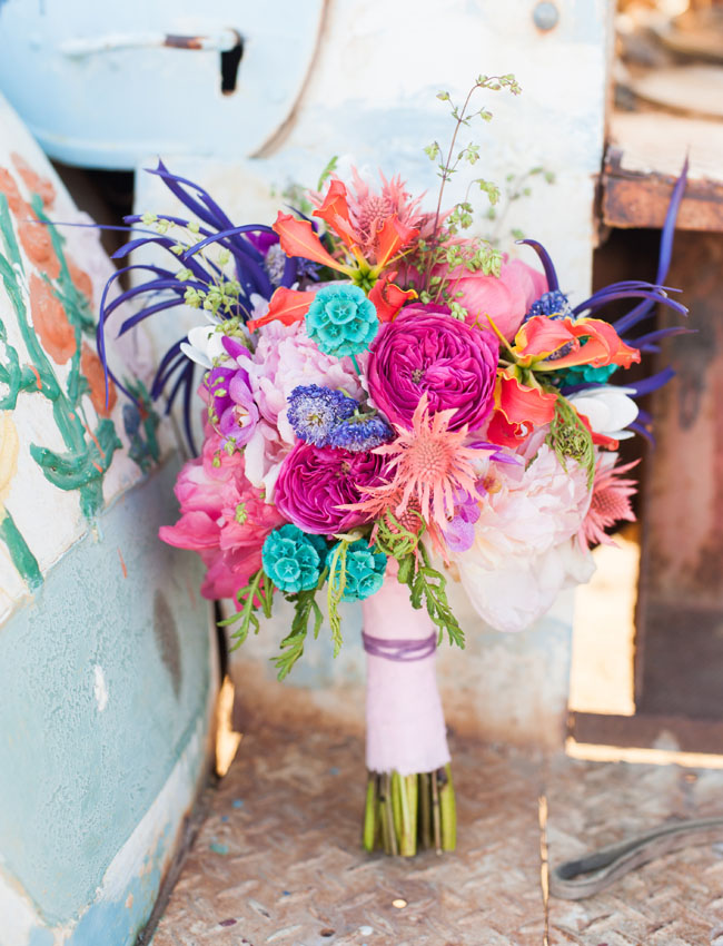 colorful and bright bouquet