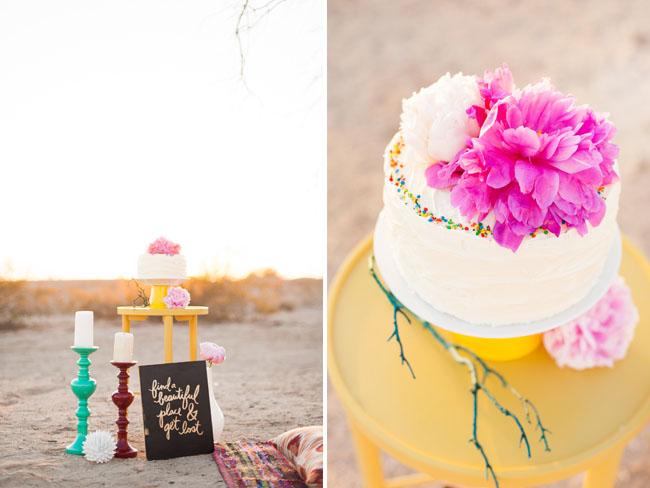 peony cake topper