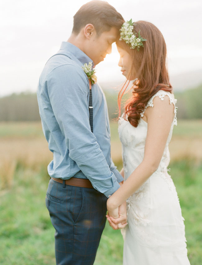 flower crown scotland elopement