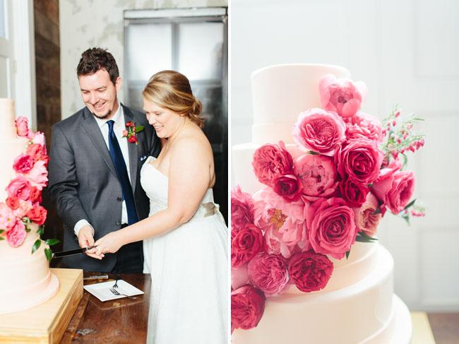 pink garden rose cake
