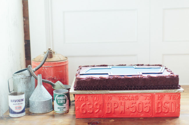 Chevy grooms cake