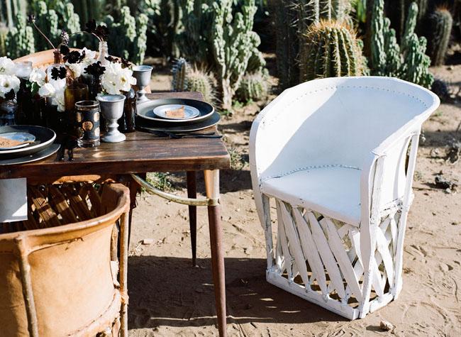 white weaved chair