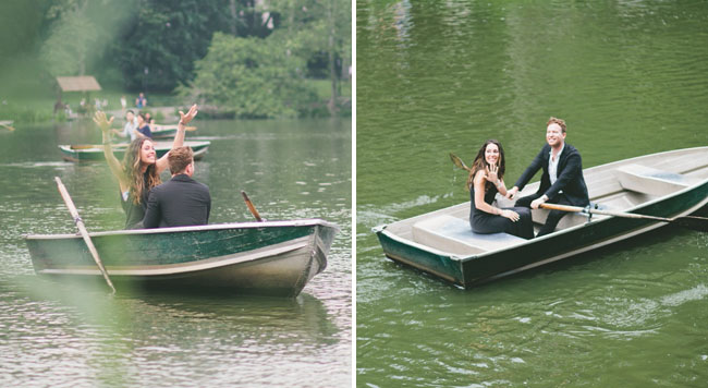 Sweet Central Park Boat Proposal Jenna Jared