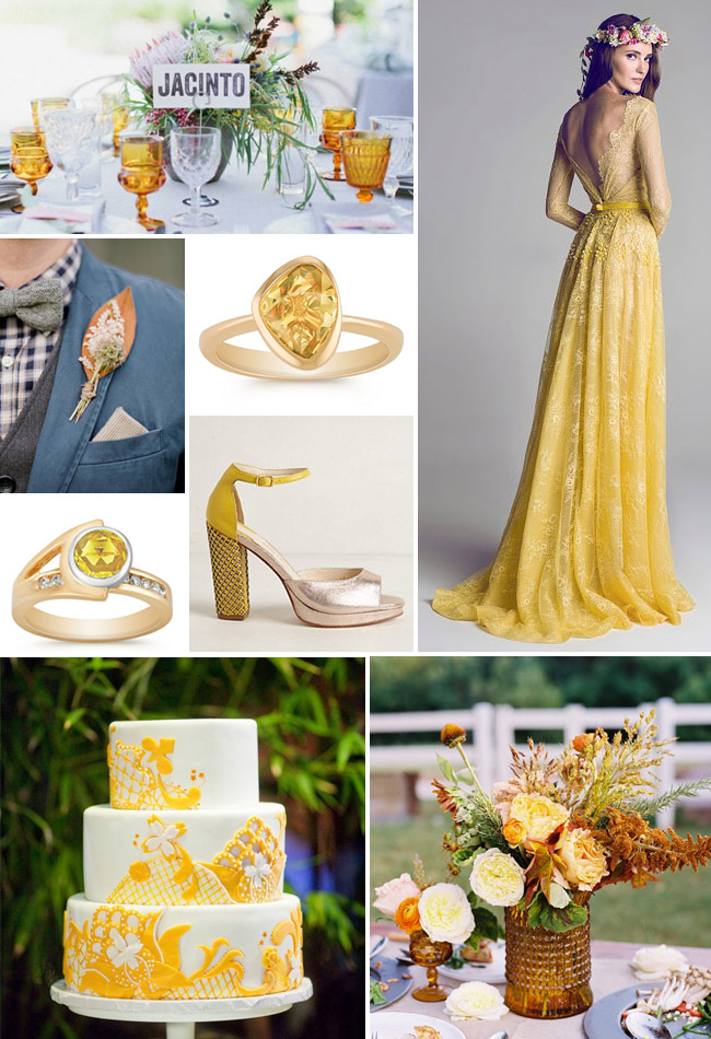 Yellow Lace Wedding Shoes