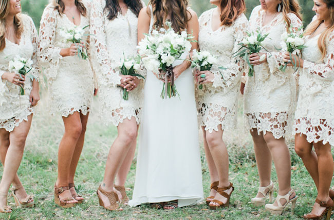 lace sleeve bridesmaids
