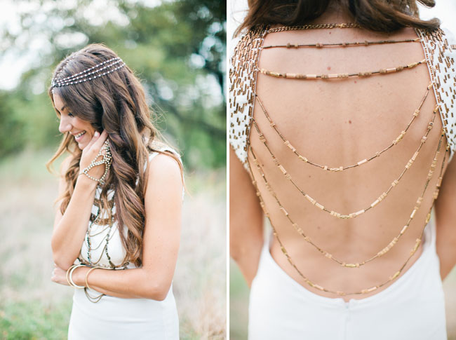 chain backed dress