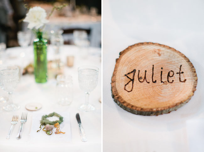 wood slice name card