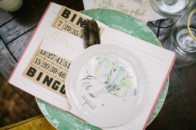 painted plate and bingo