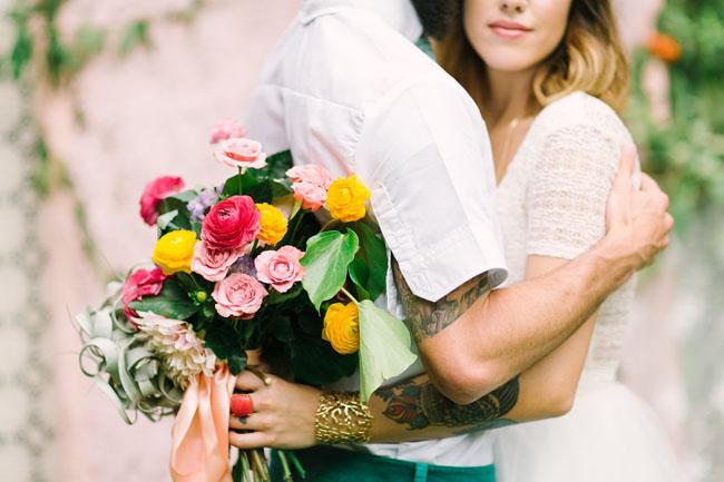 bright colored bouquet