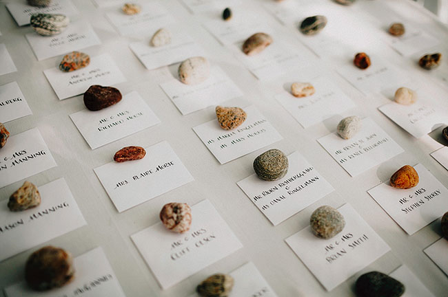 rock place cards