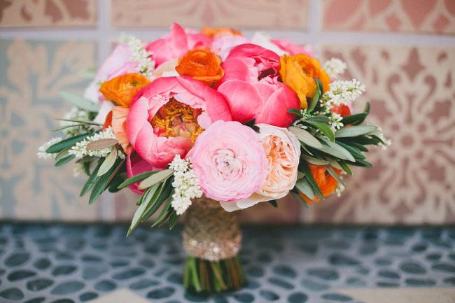 desert glam peony bouquet