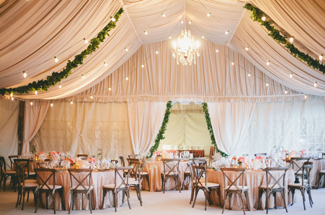 desert glam reception