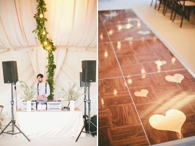 heart decal dance floor