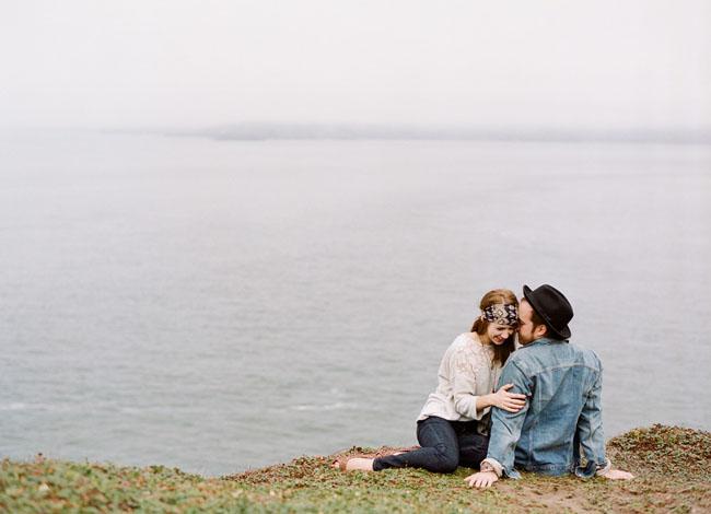 San Francisco foggy engagement