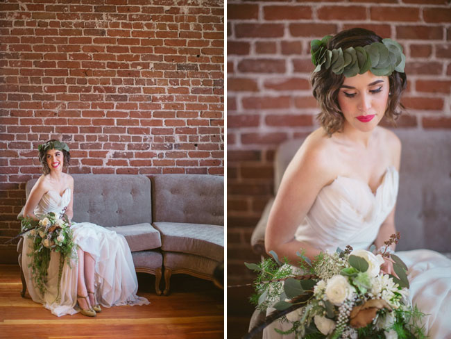 greenery flower crown