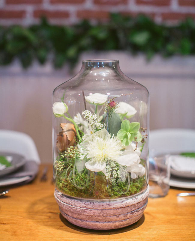 glass dome floral terrarium