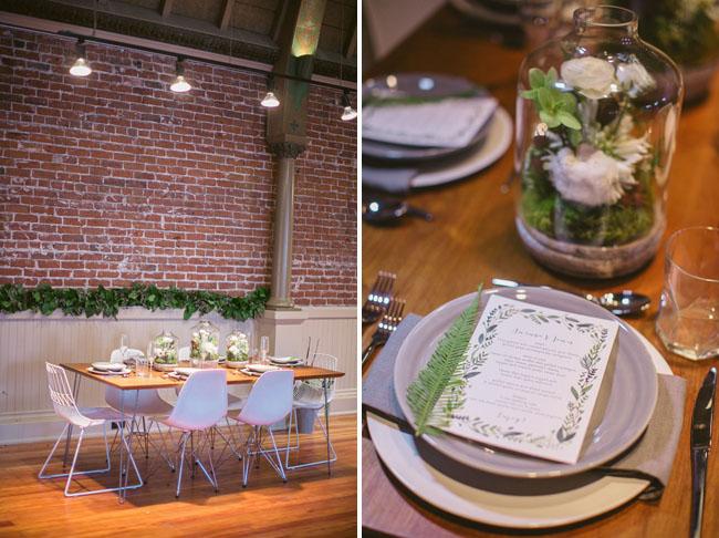 romantic greenery tablescape