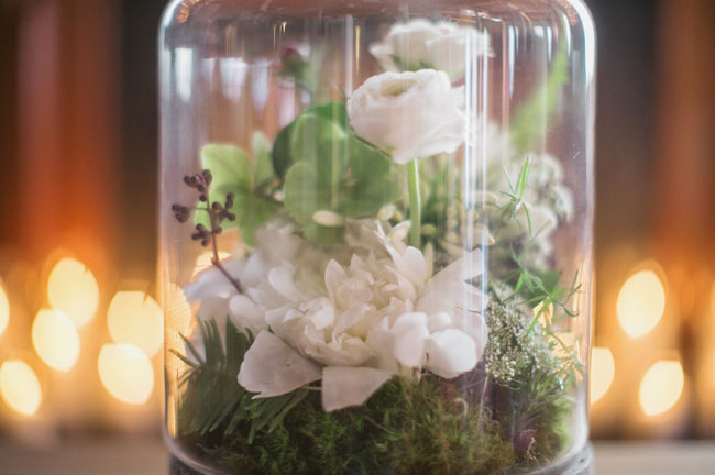glass dome floral terrarium