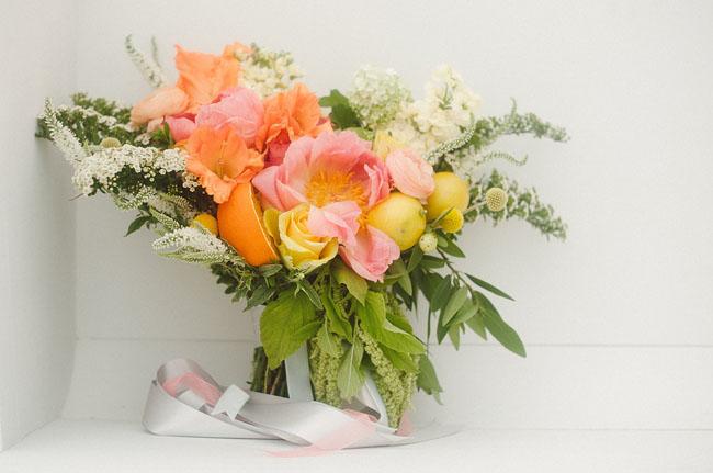 citrus colored bouquet