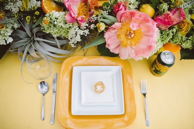 citrus plate setting
