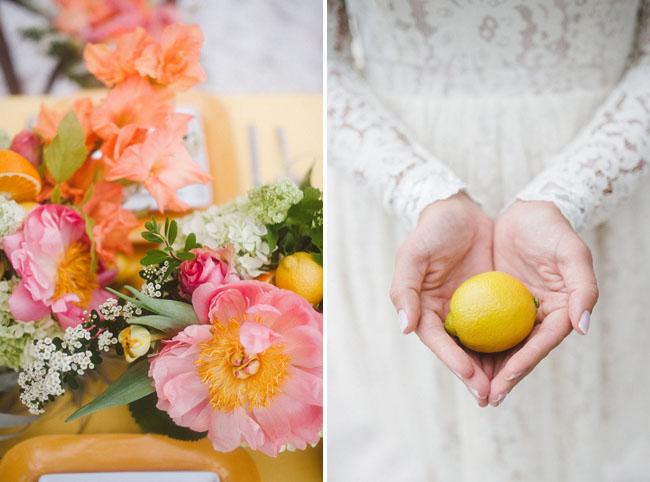 lemons and peonies