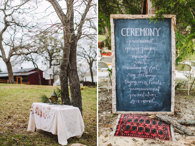 ceremony chalkboard