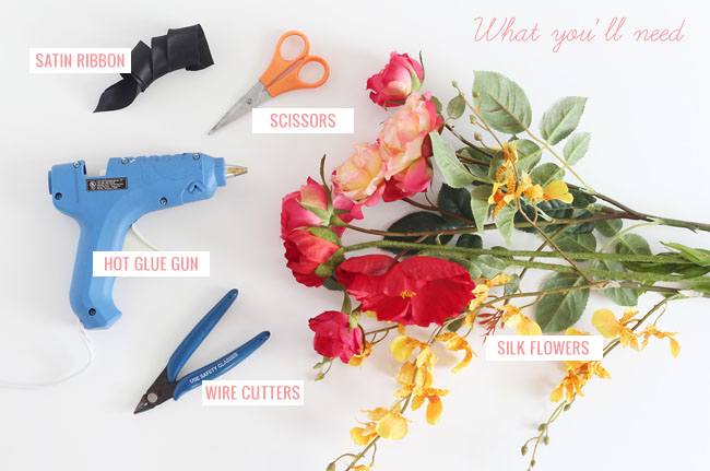 DIY Silk Flower Corsages
