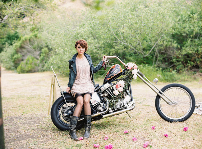 motorcycle bride