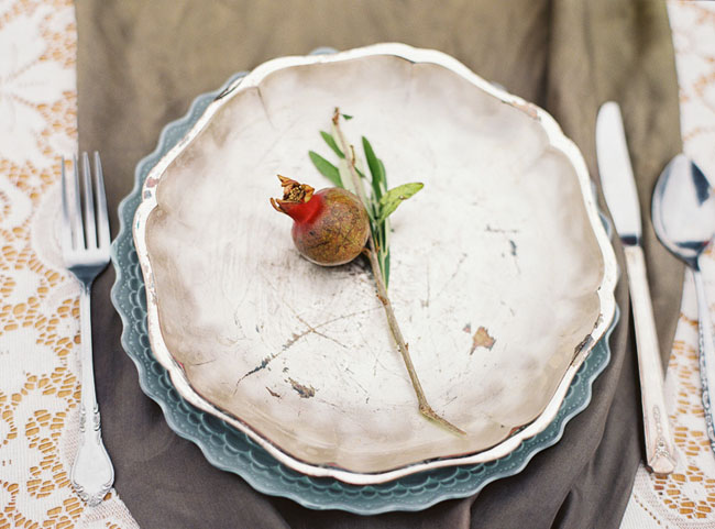fruit plate setting