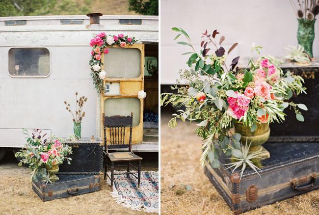 vintage trailer and florals
