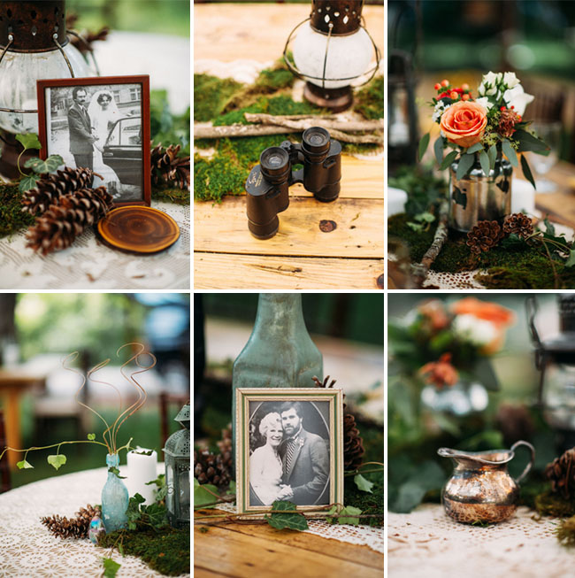 rustic wooded tablescapes