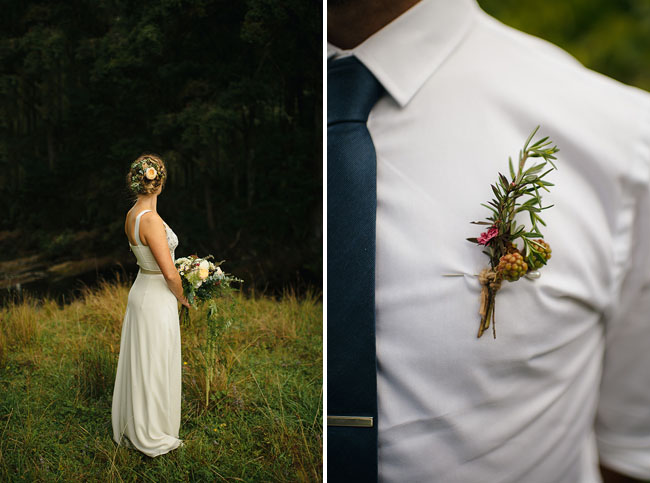 rustic boutonniere 2
