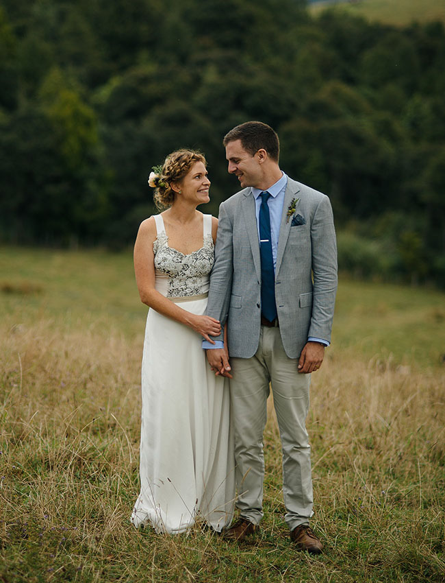 New Zealand bride and groom